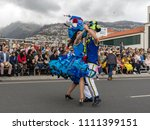 funchal  madeira  portugal  ... | Shutterstock . vector #1111399151