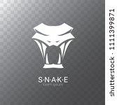 vector snake logo template.... | Shutterstock .eps vector #1111399871