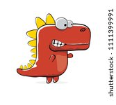 vector funny cartoon cute red... | Shutterstock .eps vector #1111399991