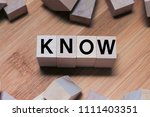 Small photo of Know Word Written In Wooden Cube