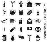 beer hangout icons set. simple...   Shutterstock . vector #1111405874