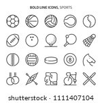 sports  bold line icons. the... | Shutterstock .eps vector #1111407104