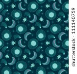 pattern with sun  moon and...   Shutterstock .eps vector #111140759