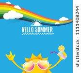 hello summer rock n roll vector ... | Shutterstock .eps vector #1111408244