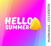 vector hello summer beach party ... | Shutterstock .eps vector #1111408334