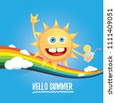 hello summer rock n roll vector ... | Shutterstock .eps vector #1111409051