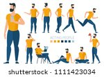 flat design young businessman... | Shutterstock .eps vector #1111423034