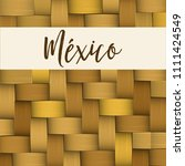 traditional colorful mexican... | Shutterstock .eps vector #1111424549
