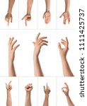 man hand with the various... | Shutterstock . vector #1111425737
