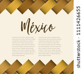 traditional colorful mexican... | Shutterstock .eps vector #1111426655