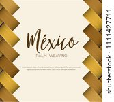 traditional colorful mexican... | Shutterstock .eps vector #1111427711