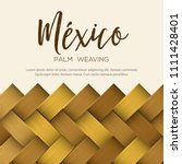 traditional colorful mexican... | Shutterstock .eps vector #1111428401