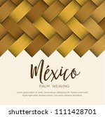 traditional colorful mexican... | Shutterstock .eps vector #1111428701