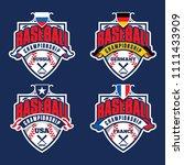 baseball championship badge... | Shutterstock .eps vector #1111433909
