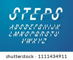 steps folded typography design... | Shutterstock .eps vector #1111434911