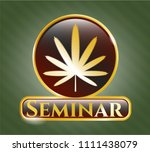 golden emblem or badge with... | Shutterstock .eps vector #1111438079