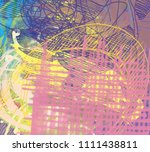 abstract painting on canvas.... | Shutterstock . vector #1111438811