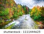 idyllic autumn scene near... | Shutterstock . vector #1111444625