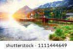 idyllic autumn scene in... | Shutterstock . vector #1111444649