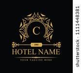 luxury logo template in vector... | Shutterstock .eps vector #1111448381