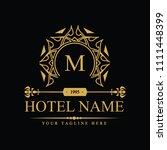 luxury logo template in vector... | Shutterstock .eps vector #1111448399