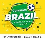 speech bubble brazil with icon... | Shutterstock .eps vector #1111450151
