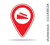 boat ramp map pin icon. element ...