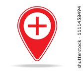 zoom in map pin icon. element... | Shutterstock .eps vector #1111458494