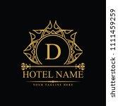 luxury logo template in vector... | Shutterstock .eps vector #1111459259