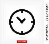 time vector icon  stock vector... | Shutterstock .eps vector #1111461554