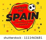 speech bubble spain with icon... | Shutterstock .eps vector #1111463681