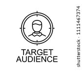 target audience line icon.... | Shutterstock .eps vector #1111467374