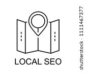 local seo line icon. element of ... | Shutterstock .eps vector #1111467377