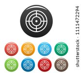 objective of target icon.... | Shutterstock .eps vector #1111472294