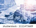 modern way of exchange. bitcoin ... | Shutterstock . vector #1111473689