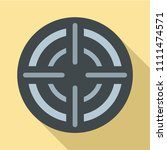 military aim target icon. flat... | Shutterstock .eps vector #1111474571