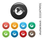 worldwide icon. simple... | Shutterstock .eps vector #1111474931