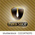 golden emblem or badge with... | Shutterstock .eps vector #1111476191