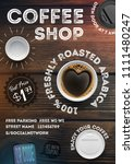 coffee shop flyer template on... | Shutterstock .eps vector #1111480247