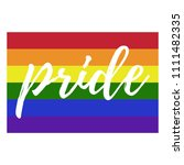 rainbow pride flag   pride... | Shutterstock .eps vector #1111482335