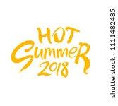 hot summer 2018. seasonal logo... | Shutterstock .eps vector #1111482485