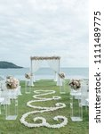 wedding ceremony setup | Shutterstock . vector #1111489775