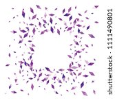 confetti of two colored rhombs... | Shutterstock .eps vector #1111490801