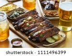 st louis style bbq ribs on... | Shutterstock . vector #1111496399