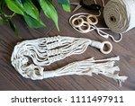 a hand made macrame plant... | Shutterstock . vector #1111497911