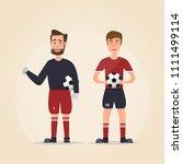 set of football player... | Shutterstock .eps vector #1111499114