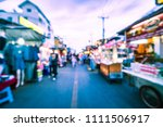 abstract blur hua hin night...   Shutterstock . vector #1111506917