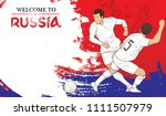 welcome to russia background... | Shutterstock .eps vector #1111507979