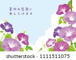 morning glory illustration ... | Shutterstock .eps vector #1111511075