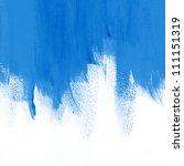 blue hand painted brush stroke... | Shutterstock . vector #111151319